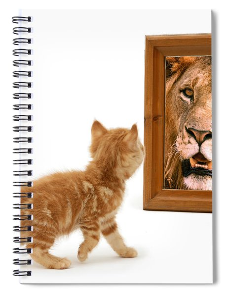 Admiring The Lion Within Spiral Notebook
