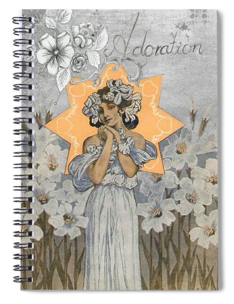 Adoration Art Deco Spiral Notebook