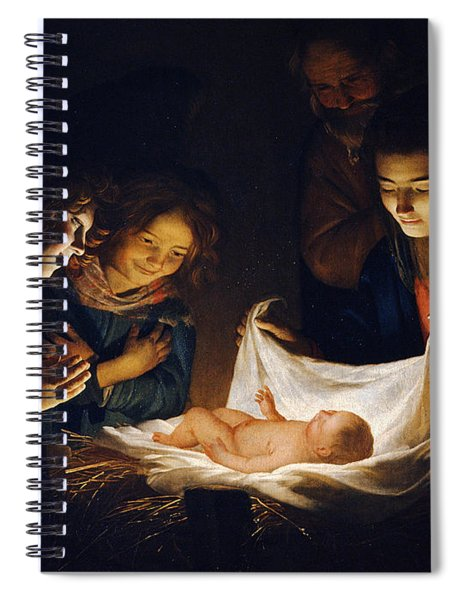 Adoration Of The Child Spiral Notebook
