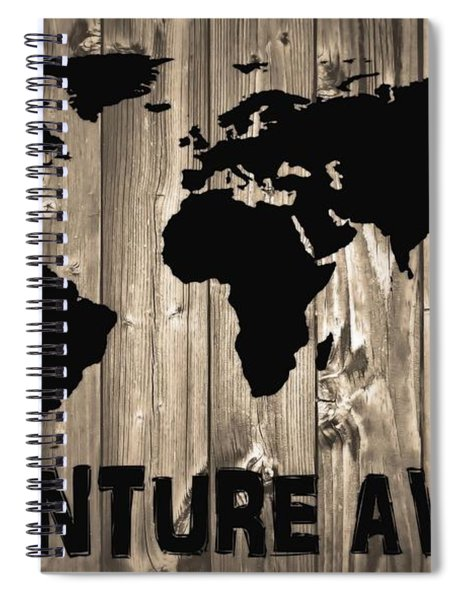 Adventure Awaits Graphic Barn Door Spiral Notebook