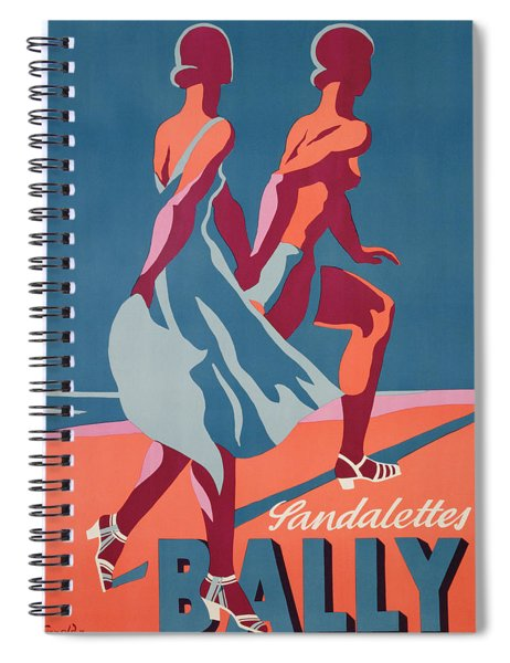 Advertisement For Bally Sandals Spiral Notebook
