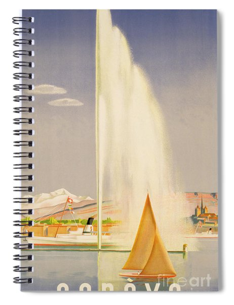 Advertisement For Travel To Geneva Spiral Notebook