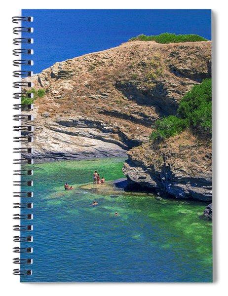 Aegean Coast In Bali Spiral Notebook