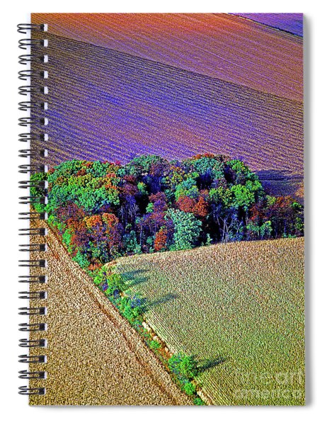 Aerial Farm Tree Top Grove  Spiral Notebook