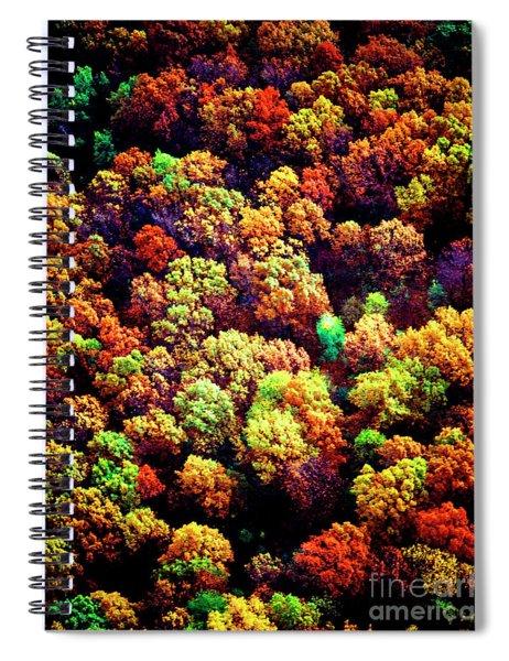 Aerial Farm Tree Tops Fall Ff Spiral Notebook