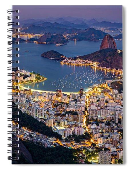 Aerial Rio Spiral Notebook