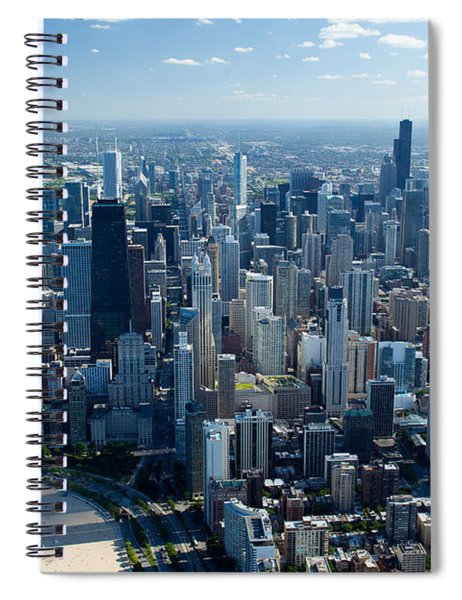 Aerial View Of A City, Lake Michigan Spiral Notebook
