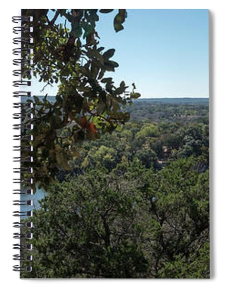 Aerial View Of Large Forest And Lake Spiral Notebook