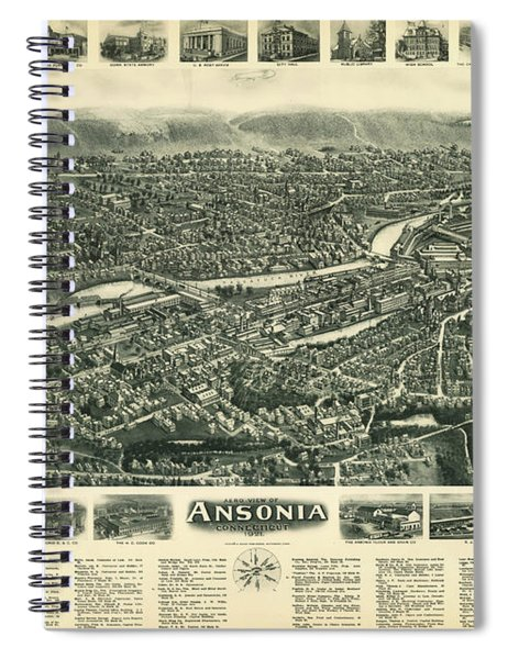 Aero View Of Ansonia, Connecticut Spiral Notebook