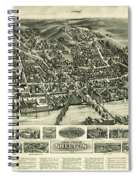 Aero View Of Watertown, Connecticut  Spiral Notebook