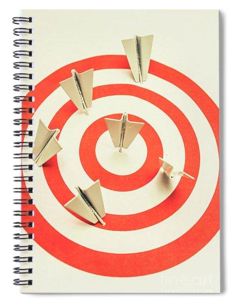 Aeroplane Target Pin Board Spiral Notebook