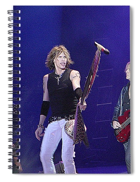 Aerosmith-steven Tyler-00049 Spiral Notebook