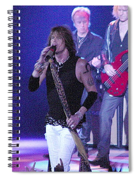 Aerosmith-steven Tyler-00078 Spiral Notebook