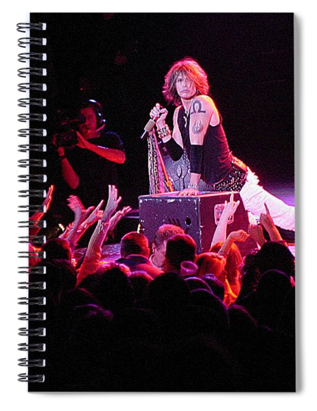 Aerosmith-steven Tyler-00088 Spiral Notebook