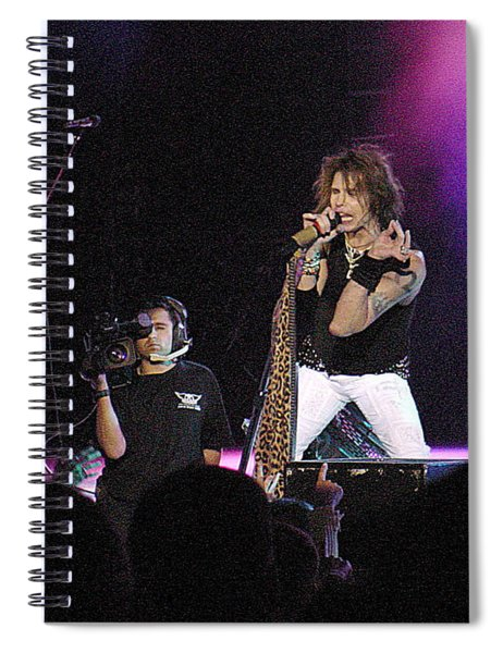 Aerosmith-steven Tyler-00175 Spiral Notebook