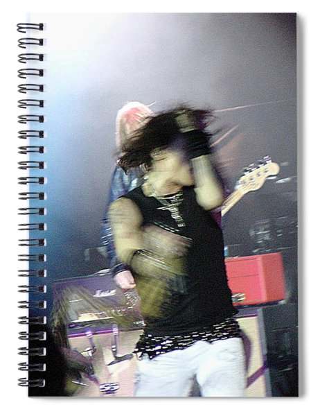 Aerosmith-steven Tyler-00188 Spiral Notebook