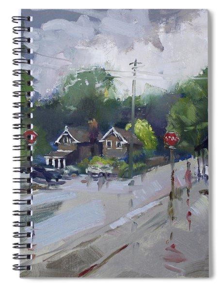 Afetr Rain At Glen Williams On Spiral Notebook