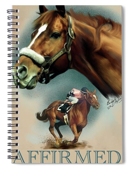 Affirmed With Name Decor Spiral Notebook