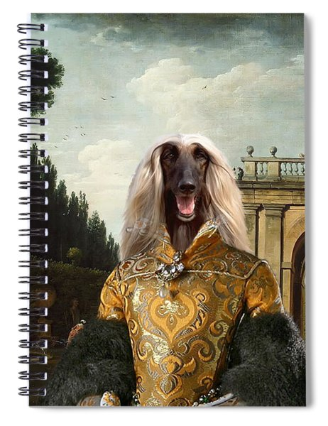 Afghan Hound-the Afternoon Promenade In Rome  Canvas Fine Art Print Spiral Notebook
