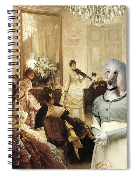 Afghan Hound-the Concert  Canvas Fine Art Print Spiral Notebook