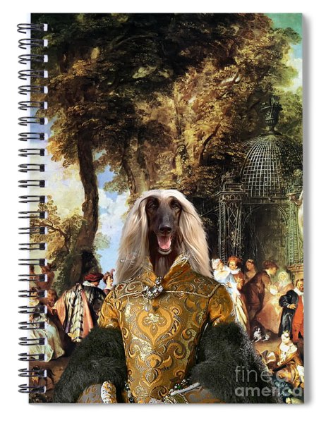 Afghan Hound-the Winch Canvas Fine Art Print Spiral Notebook