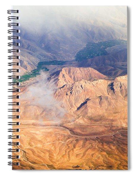 Afghan Valley At Sunrise Spiral Notebook