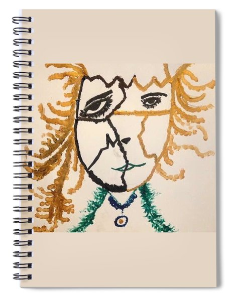 Spiral Notebook featuring the painting Afraid  by Samimah Houston