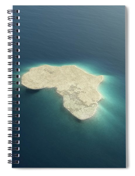 Africa Conceptual Island Design Spiral Notebook