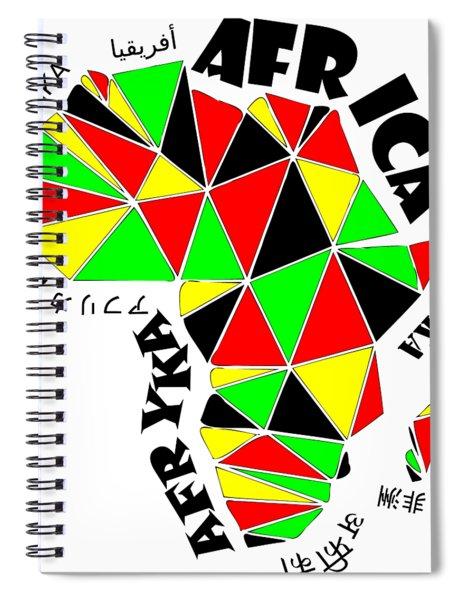 Africa Continent Spiral Notebook