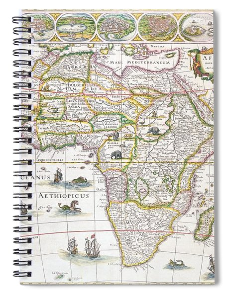 Africa Nova Map Spiral Notebook