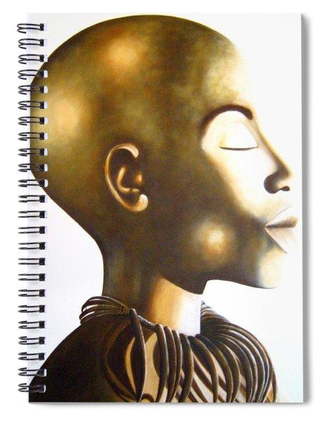African Elegance Sepia - Original Artwork Spiral Notebook