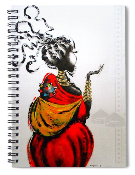African Lady And Baby Spiral Notebook