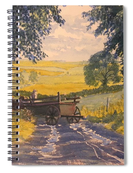 After Rain On The Wolds Way Spiral Notebook