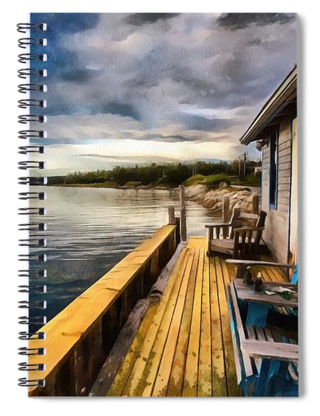 After Sunset Spiral Notebook
