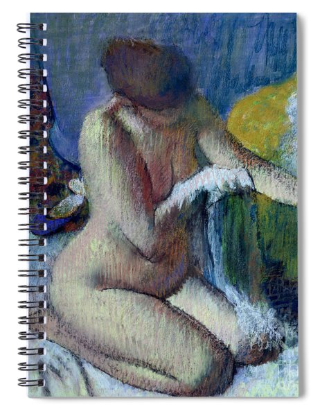 After The Bath Spiral Notebook by Edgar Degas