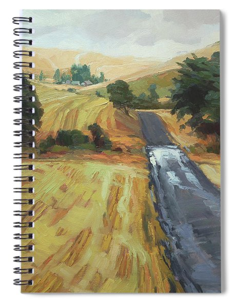 After The Harvest Rain Spiral Notebook