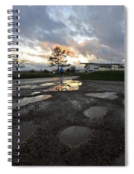 After The Storm At Epsom Downs Surrey Uk Spiral Notebook
