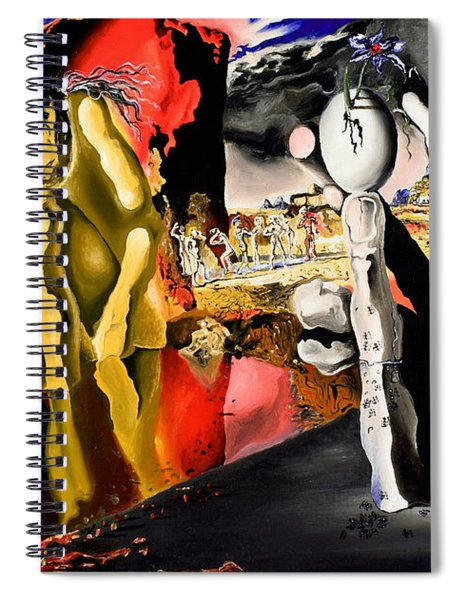 Aftermath Of Narcissus - After Dali- Spiral Notebook