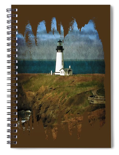 Afternoon At The Yaquina Head Lighthouse Spiral Notebook