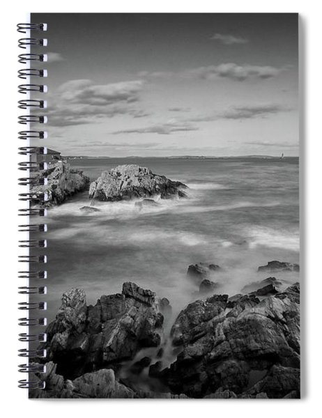Afternoon Light In Black And White Spiral Notebook