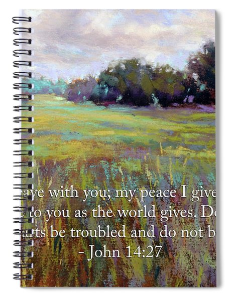 Afternoon Serenity With Bible Verse Spiral Notebook
