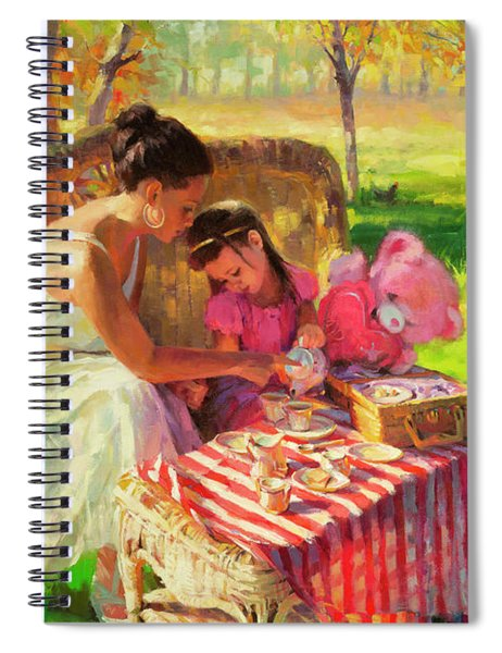Afternoon Tea Party Spiral Notebook