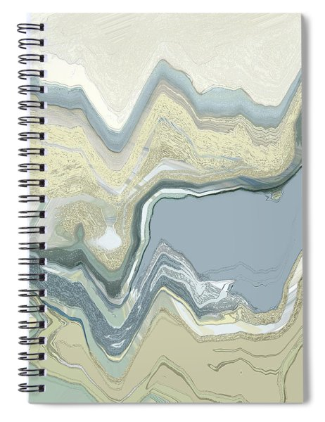 Spiral Notebook featuring the digital art Agate by Gina Harrison