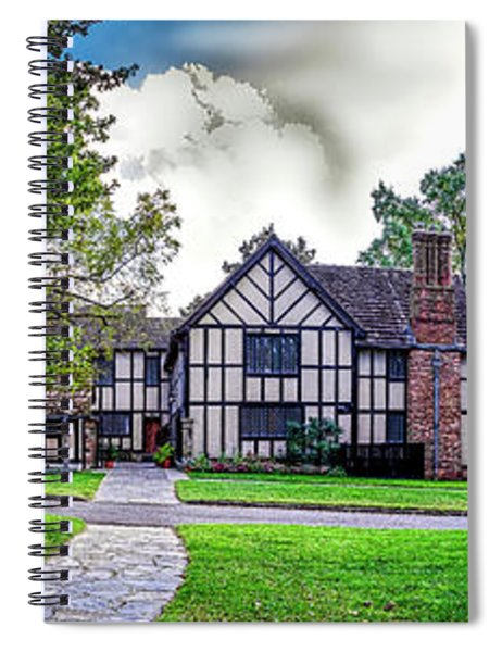Agecroft Hall Panorama Hdr Spiral Notebook