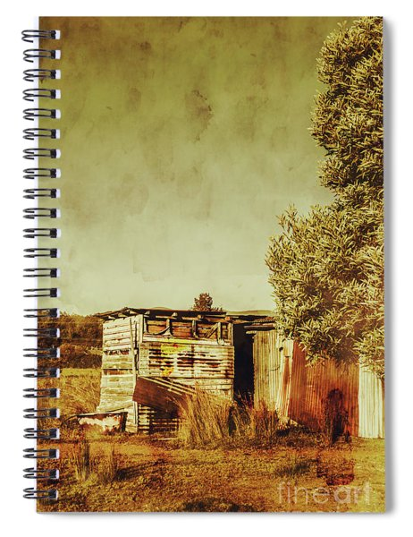 Aged Australia Countryside Scene Spiral Notebook