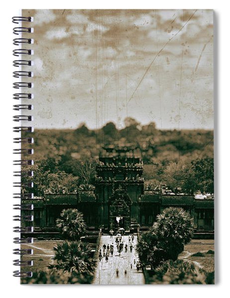 Aged To Perfection At Angkor Wat Temple, Siem Reap Province, Cambodia Spiral Notebook