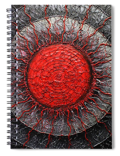 Red And Black Abstract Spiral Notebook