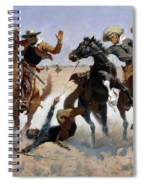 Aiding A Comrade Spiral Notebook