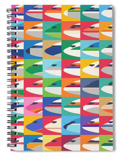 Airline Livery - Small Grid Spiral Notebook
