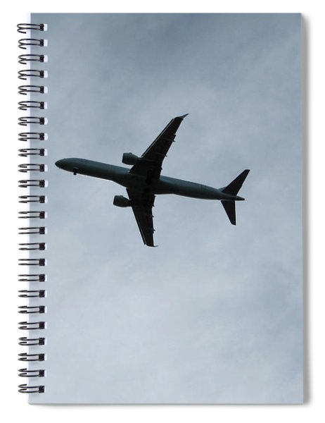 Airplane Silhouette Spiral Notebook